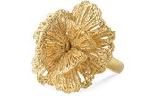 Gold Floral Ring - Adjustable Size