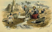 Women panning for gold