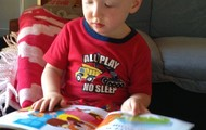 Zack (Age 3) Loves reading stories any time of the day