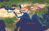 The trade routes of the Spice Road