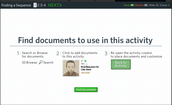 Begin a search for your primary documents