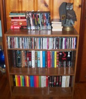 My babies: Some of my books, movies, and CDs