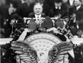 President Hoover Speaking