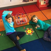 Our creations from the pattern block center!