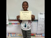 Our Dream Team member is Morgan Bell for being so respectful to others!