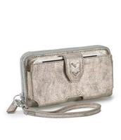 Madison Tech Wallet in Brushed Metallic