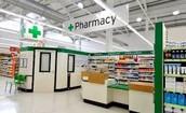 Fui a la farmacia y compre medicamento.