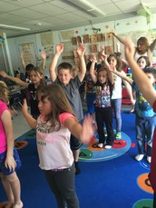 Yoga with our First Grade Friends