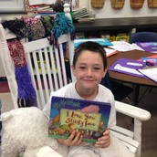 Daire with one of his favorite books!