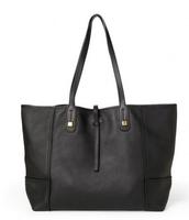 Paris Market Tote - Black Leather