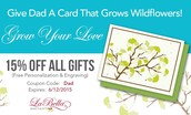 Give Dad a Card that Grows Wildflowers