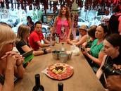 Tour in a restaurant