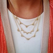 Pave Chevron Necklace $79 (gold or silver)
