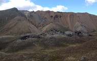 Mountains of volcanic soil
