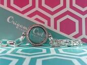 Link Locket Bracelet in Silver