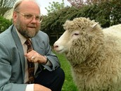 Dolly the sheep and professor Ian  Wilmut