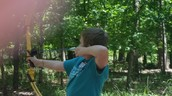 Chance is the lefty of the group. He takes aim!