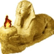 This is a sphinx (guardian of the graves)