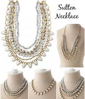 Sutton Necklace - White Stone