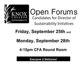 Director of Campus Sustainability Initiatives Open Forum