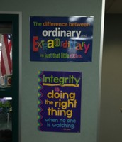 Outside Mrs. Ray's Room