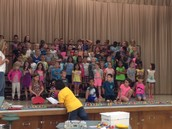 1st Grade singing practice