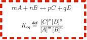 The equilibrium constant, K