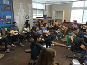 6th graders learning the guitar!