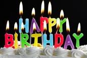This Weeks JHS Birthdays