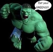 The Hulk loves Spinach