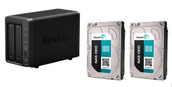 Synology Network Storage with 2 x 2TB Hard drive Bundle $703