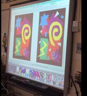 Having fun with Matisse artwork in 1st grade! #FrankPride #CelebrateMonday