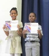Third Grade Principal's Honor Awardees
