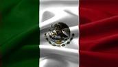Esta es la bandera de Mexico, lugar de donde eran los padres de Octavio paz.