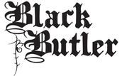 The title screen for Black Butler.