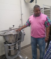 A machine for mixing dough