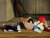 Pinoccio  and Figaro the cat