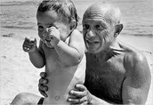 Picasso and his son Claude