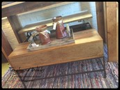 Modern Wood and Metal Coffee Table with Riser ~ $295