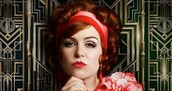Isla Fisher in the Great Gatsby.
