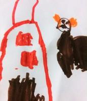 disegno spontaneo della casa - anni 4