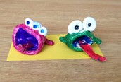 First grade clay fish creatures