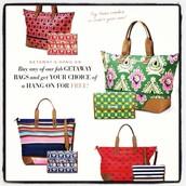 Buy a GETAWAY bag, get a FREE Hang-on!