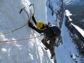 Ice climbing in Banff National park
