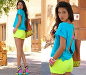 Neon Colored Outfits