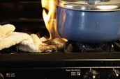 Keep flammable substances away from cook top