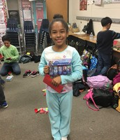 Mya with her Frozen gift!