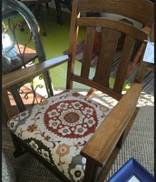 Upholstered Oak Rocking Chair ~ $265