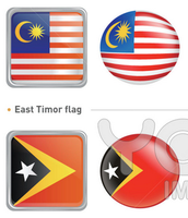 The Malaysian and East Timor Flags