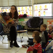 New Childrens' Librarian Visits Preschool